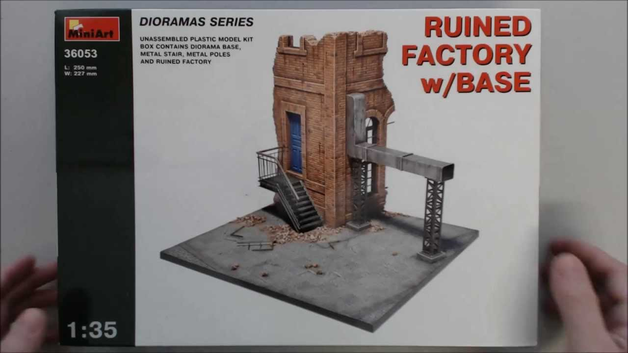 Review Miniart Ruined Factory With Base Youtube