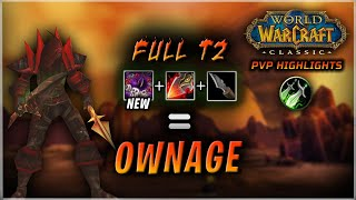 Full T2 + Renataki's + Daggers = OWN | Rogue PvP WoW Classic
