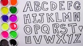 Dibujando y Coloreando el Alfabeto - Dibujos Para Niños - Aprende Colores / Funkeep