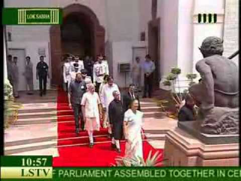 President Pranab Mukherjee arrives to address Joint session of Parliament