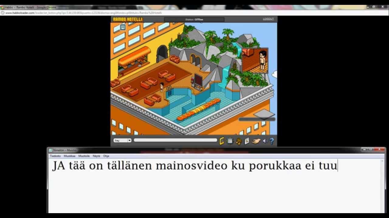 Uusi suomalainen habbo retro RamboHotelli  YouTube