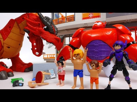 Defeat The Evil Dragon~! Go Big Hero 6 Go Baymax