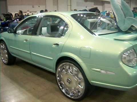 Outrageous Nissan Maxima On 24 Inch Dub Stashola Floaters
