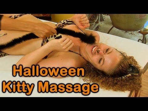 Halloween Kitty Cat Massage Therapy Technique, Tummy Massage & Kitten Costumes | Athena Jezik ASMR