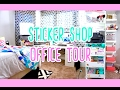 Sticker Shop Mini Office Tour + IKEA Storage Solutions + RASKOG Cart // NoWhiteSpaceStickers