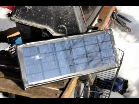 Charging a Super Capacitor using my Solar Panel