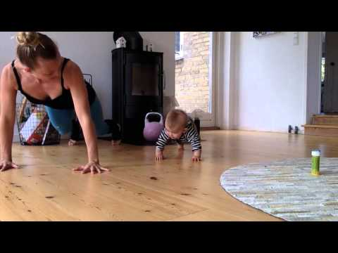 Baby Fitness And Mom Fitness - 8 Months Old Baby Gives Mom A Good Workout ORIGINAL Video Vol. 1