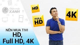 Nên mua tivi HD, Full HD hay 4K - Những điều chưa biết | Điện máy XANH