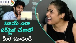 Vijay Devarakonda Surprises Shalini | Arjun Reddy Latest Telugu Movie | Interview | Indian Cinema