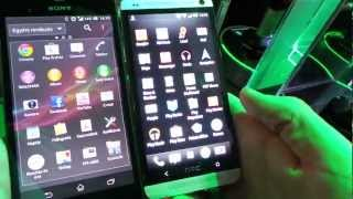 HTC One vs Xperia Z sszehasonlt vide @ MWC 2013 | Tech2.hu