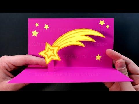 Pop Up Weihnachtskarten Basteln Mit Papier Diy Geschenke