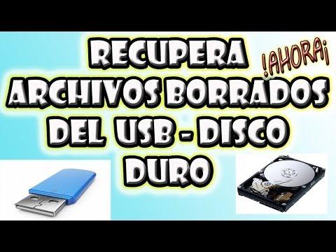 Como Recuperar Archivos Borrados Del USB o Disco Duro 2014