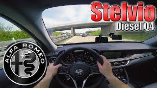 2017 Alfa Romeo Stelvio (210Hp) POV- Autobahn TEST Drive ✔