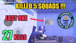 Five Squads Killed | 100k Special | 27 Kills Solo Vs Squad | PUBG Mobile