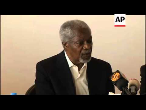 Kofi Annan insists his plan has not failed, following tour of camp