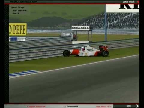 [rFactor] I took a bit too much kerb. This situation appears to be quite plausible to me, and is probably one of the reasons why a chicane was added to this ...