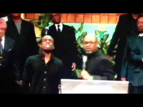 Bishop Brandon Porter at West Angeles COGIC (PRAISE BREAK!!