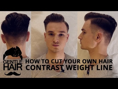 GentleHair | How to cut your own hair for men | Contrast weight line 2015 haircut and style