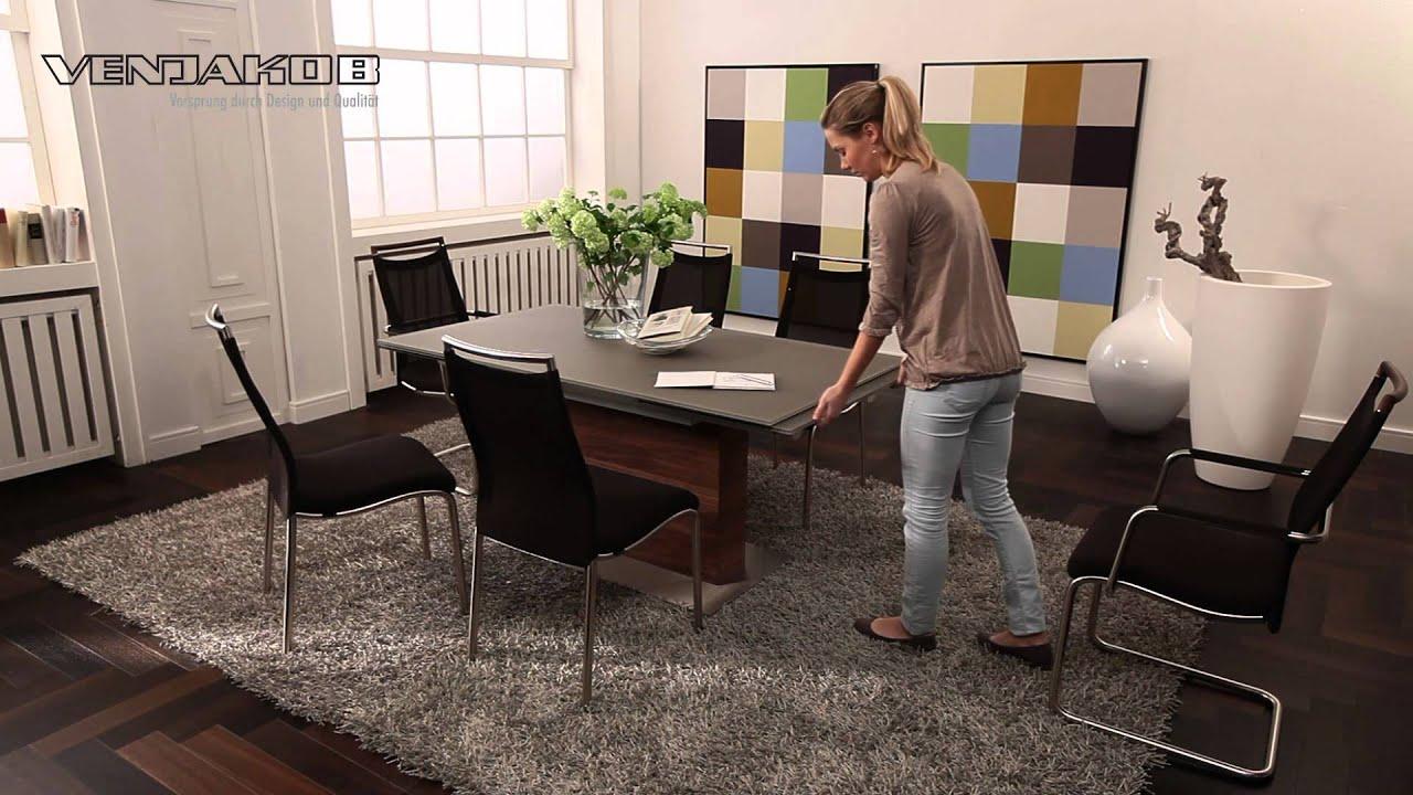 Ausziehbarer esstisch et613 youtube for Esstisch taupe