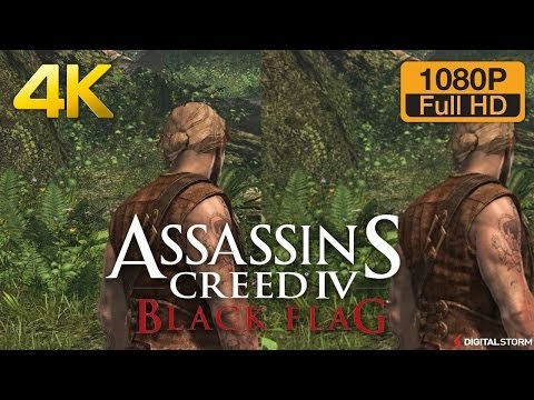4K vs 1080p Graphics Comparison - Assassin's Creed 4 Black Flag