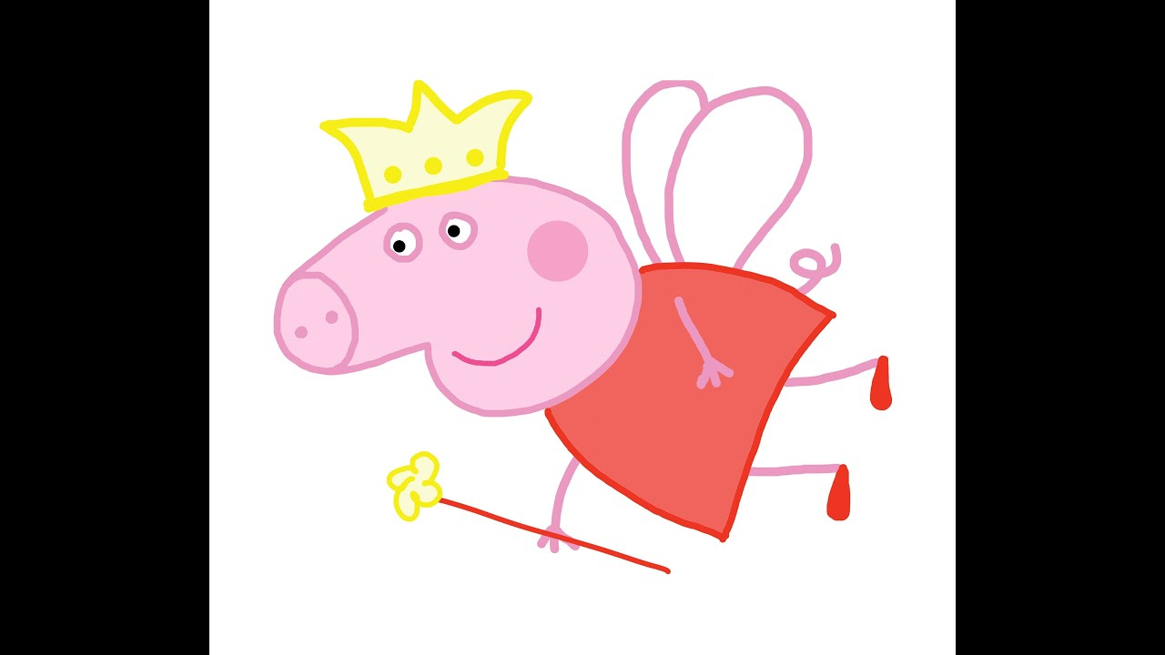 Step by step guide. Peppa Pig Fairy How to draw a easy? Свинка ...
