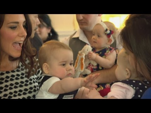 Prince George and Duchess of Cambridge Kate's royal playdate: George makes a friend