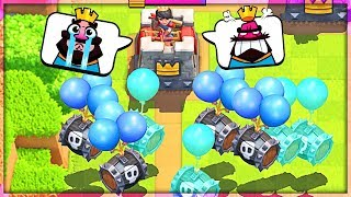 LOL!! SKELETON BARREL SPAM!!! Clash Royale Madness with NICK!