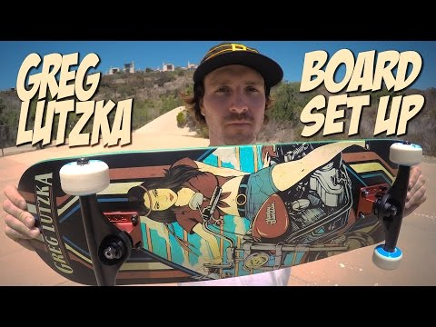 GREG LUTZKA   BOARD SET UP & INTERVIEW !!!