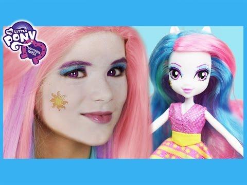 My Little Pony Princess Celestia Makeup Tutorial!  Equestria Girl Doll Cosplay | Kittiesmama