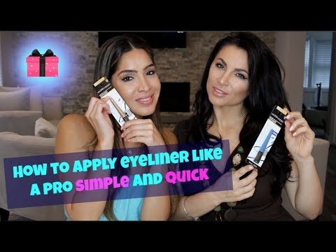How to apply eyeliner like a pro simple and quick using L'Oreal Telescopic eyeliner + Giveaway OPEN