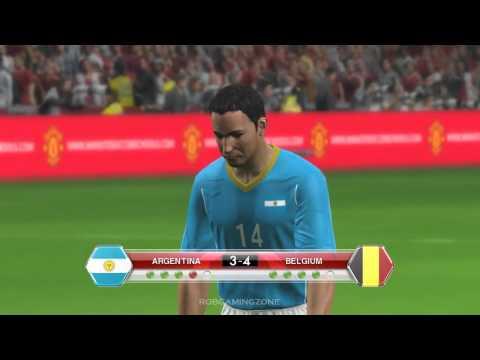 ARGENTINA vs BELGIUM - PENALTY SHOOTOUT PES2014