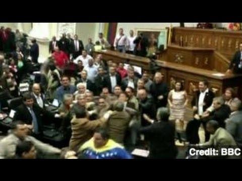 Venezuelan Parliament Fist-Fights Over Election