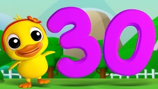 Numbers Song 1 to 30 | 3D Rhymes | Learning Number For Kids by Farmees