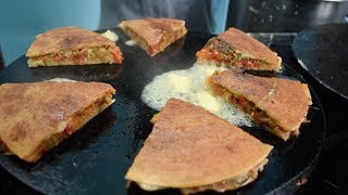 BUTTER LOADED Uttapa Sandwich | Double Layered Uttapam | Indian Street Food