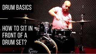 How do you sit infront of a Drum set? - DRUM BASICS S01E01