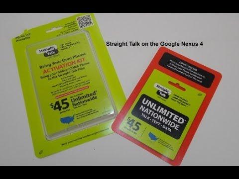 Straight Talk on the Google Nexus 4