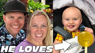 Baby Owen Eats His First Lollipop -- SO CUTE!!! || Mommy Monday