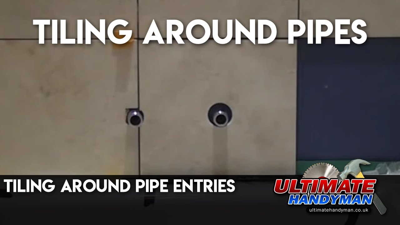 Tiling Around Pipe Entries Youtube