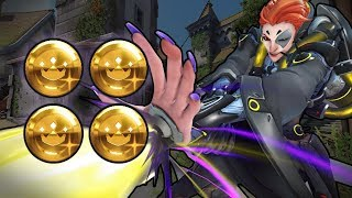 4 Gold Moira Mastery - Overwatch Ranked Gameplay