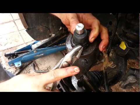 how to replace  upper ball joint on chevy trailblazer