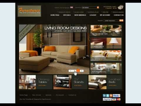 0 Furniture Store ecommerce template based on Zencart