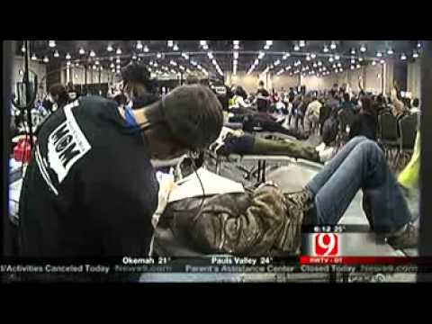 Oklahomans Brave Cold For Free Dental Care
