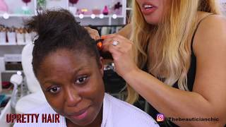 HAIR AND MAKEUP TRANSFORMATION |COPPER SMOKEY |UPRETTY HAIR |BIRTHDAY GLAM