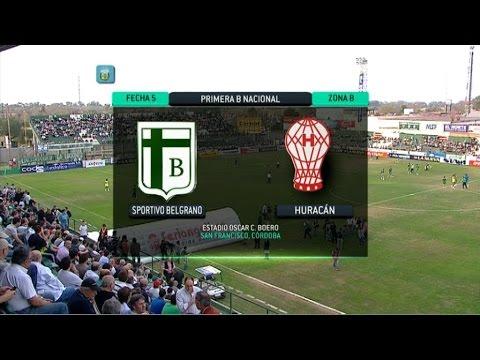 Fútbol en vivo. Sp. Belgrano - Huracán. Fecha 5. Primera B Nacional 2014. FPT