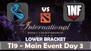 Newbee vs Infamous | The International 2019 | Dota 2 TI9 LIVE | Lower Bracket | Main Event Day 3