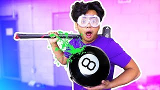 WHAT'S INSIDE A GIANT MAGIC 8 BALL?!