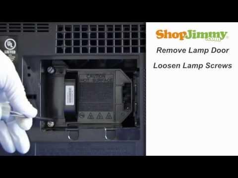Mitsubishi DLP TV Repair - Replacing & Installing 915P061010 DLP Lamp - How to Fix DLP TVs