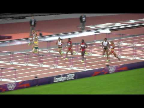 Sally Pearson Wins Women's 100m Hurdles Final from the London 2012 Olympic Stadium