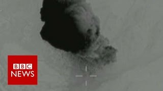 Moment Mother Of All Bombs (M.O.A.B.) struck IS cave systems - BBC News