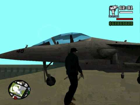 gta san andras how to fly a hydra in 1 minute pc